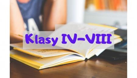 Klasy IV-VIII